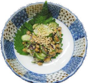 簡単節約 納豆ときゅうりのゆかりナムル